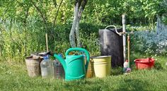 Grey water —water from kitchen or bathroom sinks, bathtubs, or washing machines — can safely be captured and rerouted to the garden. Here's how. #greywater