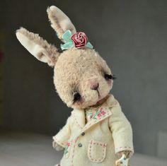 Teddy Bear stile Artist vintage viscose OOAK by SanaTeddyBears