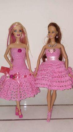 Barbie dolls crochet dress