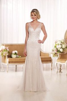 Wedding Dresses with Plunging Necklines; Style D1762 from Essense of Australia