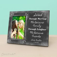Sister In Law Wedding Gift Personalized Picture By Peachwikdecor