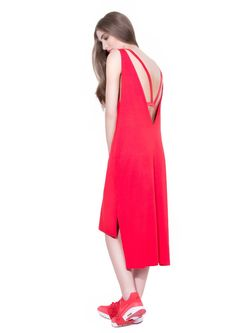 Image of ODIVI AW15 V dress red