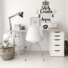 So make sure you design your home office exactly how you want from the perfect colors, . See more ideas about Desk, Home office decor and Home Office Ideas. Mesa Home Office, Home Office Table, Home Office Desks, Office Workspace, Bedroom Office, Bureau Design, Workplace Design, Design Your Home, Trendy Home