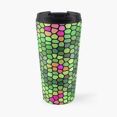 'abstract turtle ' Travel Mug by Iphone Wallet, Travel Mug, Turtle, Bottles, My Arts, Art Prints, Mugs, Abstract, Printed