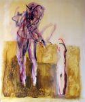 """Dividing Togetherness"", oil on canvas, 100 x 120 cm artist: Maia Stefana Oprea www.maia-fine-art.com"