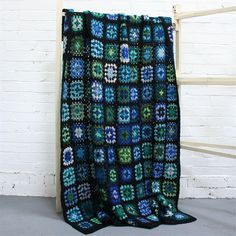 Gorgeous blue and green afghan.