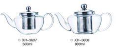 Glass Tea Pot With Stainless Steel Filter