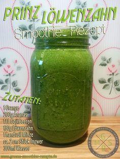 Grüner Smoothie mit Löwenzahn und Superfoods