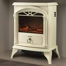 white fireplaces electric free standing - Google Search