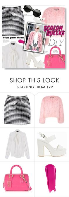 """""""DIY: Scream Queens' Chanel #1"""" by chocolate-addicted-angel on Polyvore featuring St. John, Charlotte Simone, Barbara Bui, Nly Shoes, Furla, NARS Cosmetics, ZeroUV, TVshows, 2016 and halloweencostume"""
