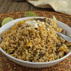 Cilantro Lime Brown Rice. A quick gluten free side dish with Minute brown rice, with bell peppers, mushrooms, onions, green chilis, cilantro, and lime.