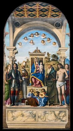 Cima da Conegliano - Madonna and Child Enthroned with Saints. 1496 - 1499