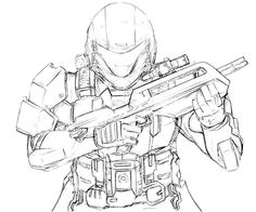 Lego Halo Coloring Pages