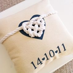 Great Wedding Gift - Personailsed 'Tied the knot' wedding cushion