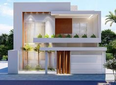 Modern Small House Design, Modern Exterior House Designs, Classic House Design, Modern Villa Design, Dream House Exterior, Modern Architecture House, Exterior Design, 2 Storey House Design, Bungalow House Design
