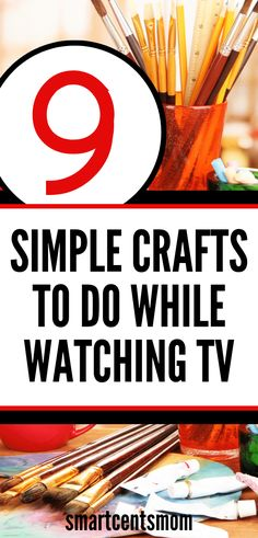 9 Crafts You can Do While Watching TV & Earn Extra Cash Simple crafts to do while watching TV. I loved this list of craft projects to do while I'm bored and watching TV. I even turned 2 of these craft ideas into a little side hustle on Etsy! Crafts To Make And Sell, Easy Crafts For Kids, Fun Crafts, Simple Crafts, Paper Crafts, Hobbies That Make Money, How To Make Money, Things To Sell, Trending Crafts
