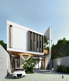 Modern Simple And Small House Architecture And Design Ideas Design Exterior, Modern Exterior, Modern House Facades, Modern House Design, Facade Architecture, Residential Architecture, House Elevation, House Entrance, Facade House