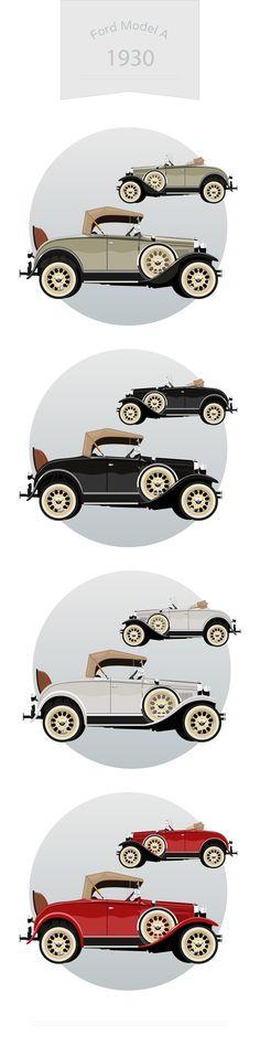 Ford Model A 1930  #classic #car #collection #vector #retro #automotive #model #graphic #drawing #nostalgia #automobile #illustration #icon #cabriolet #transport #design #1930s #1935 #machine #transportation #art #antique #vintage #background #ford  #modela  Design Mehmet Ali