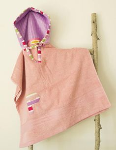 Hooded Towel Poncho Personalized Soft Pink & Lilac. Choice