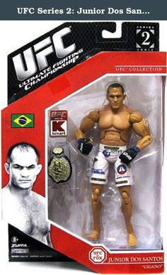 """UFC Series 2: Junior Dos Santos """"Cigano"""" Jakks Pacific Exclusive. Bring authentic MMA action home with super-detailed UFC action figures featuring Ultra Flex articulation for incredible posing and grappling action! Recreate legendary fights or stage your own dream matches with the most complete line of UFC action figures. Collect your favorite fighters from UFC events!."""