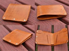 Handmade Leather Billfold Wallet for Men New Design by Tiswimy, $19.90