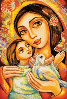 Il dipinto è stato nominato The Miracle of Love. Stai diventando una Art Card con busta, da unopera originale di Eva Campbell (Galleria completa a