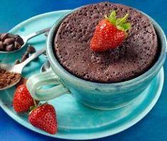 5-Minute Chocolate Mug Cake made w/ stevia