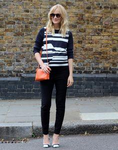 Bruuns Bazaar top, Céline bag, Ostwald Helgason x Aldo shoes, Filippa K sunglasses