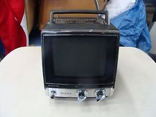 sony tv small. vintage retro portable sony tv-760 small electric transistor tv tv