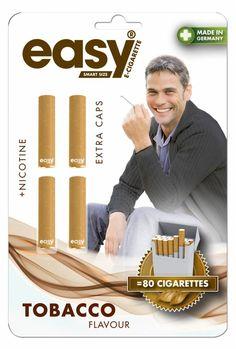 Navullingen voor de Easy smart size E-Sigaret (Tabak smaak met Nicotine)