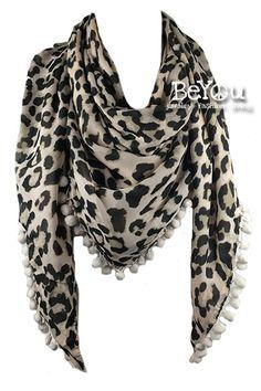 Beige Cougar Shawl