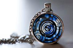Doctor Who Inspired Gallifreyan Symbol Pendant Necklace, The Doctor, Doctor Who Necklace op Etsy, $9.72