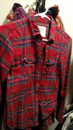 Red flannel plaid shirt