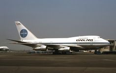 """Pan American World Airways Boeing 747SP-21 N532PA """"Clipper Constitution"""" at Los Angeles-International, circa 1976."""