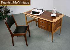 Refinished Mid Century Modern Lane Acclaim Desk