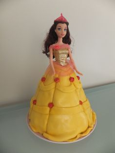 Disney Princess Belle Doll Cake by Kristin Kittle