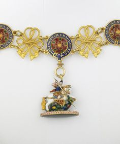 Order of the Garter - Great George and Collar belonged to Louis-Phillipe, King of the French [detail] (Musée de la Légion d'Honneur, France)