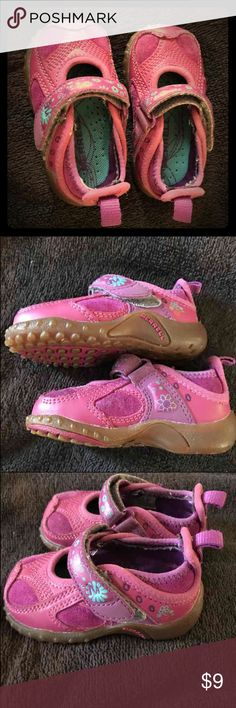 Toddler Merrell pink shoes These are an adorable gently worn infant sized 4 Merrell shoes. Merrell Shoes Baby & Walker