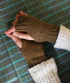 These sweet little mitts are easy to make – great for beginning knitters – and will keep your hands toasty while your fingers keep typin...
