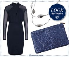 #Night #blue #pailletten #elegant #essential by Brigitte von Boch #bevonboch