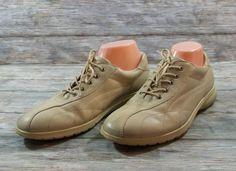 ECCO Sneakers Womens Size 10 10.5 M EUR 41 Beige Leather Shoes #ECCO #WalkingHikingTrail