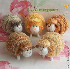 """""""Пёстрая отара"""" вязаные овечки - вязаная игрушка,вязаная овечка,овечка"""