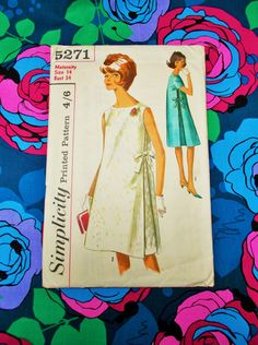 "Simplicity sewing pattern - 1963 - Woman's Maternity One-piece Dress - size 14 bust 34"" - Mpn 5271 - Used and complete by MyOverstuffedDrawers on Etsy Ooh it's SOLD x"
