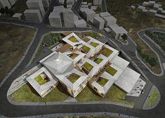 Image 1 of 23 from gallery of Competition Entry: Istanbul Gülsuyu Cemevi and Cultural Center. Aerial Rendered View. Image Courtesy of TAG