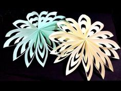 Awesome 3d Snowflake - Very easy and rich. Table decor - Easter - YouTube