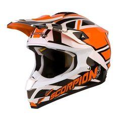 Casque Scorpion Vx 15 Unadilla Orange - Speedway #speedwayfr #france #moto #casque #cross #orange