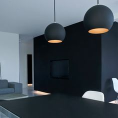hanglamp Topan VP6-mat zwart door Verner Panton
