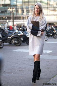 Трикотажные платья - street style