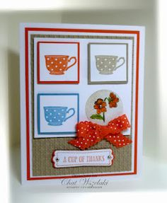 tea cupe card Stampin Up