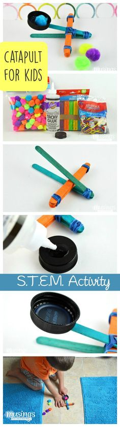 Kids STEM Project How to Make a Catapult for Kids - this fun STEM Activity will keep them busy for hours!How to Make a Catapult for Kids - this fun STEM Activity will keep them busy for hours! Stem Projects For Kids, Stem For Kids, Science Projects, Kids Fun, Stem Science, Science For Kids, Science Games, Preschool Science, Science Tools